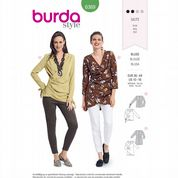 6369 Burda Pattern: Misses' Ruched Blouses